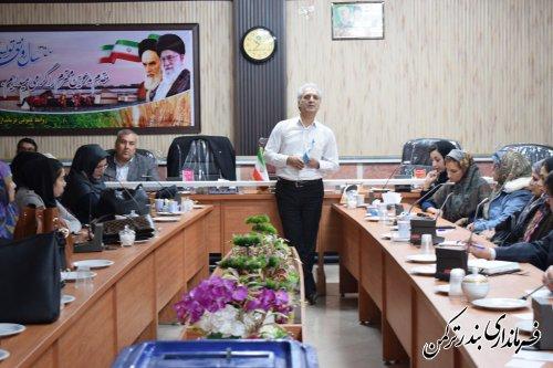 چهارمین جلسه آموزش مجریان انتخابات شهرستان ترکمن برگزار شد