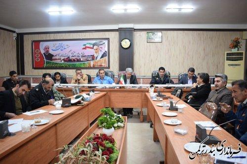 جلسه ستاد اجرایی خدمات سفر ویژه نوروزی شهرستان ترکمن برگزار شد