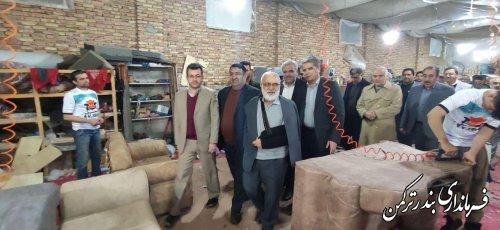 بازدید رئیس کمیته امداد کشور از کارگاه مبل سازی در شهرستان ترکمن