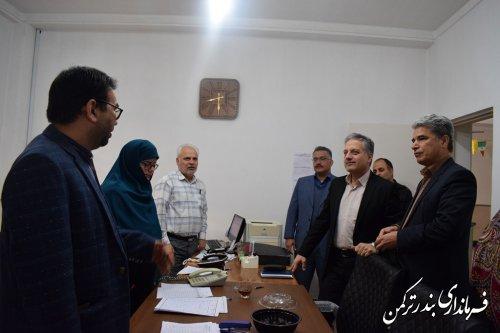 بازدید رئیس ستاد انتخابات استان از هیئت اجرایی انتخابات شهرستان بندرترکمن