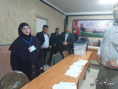 آغاز فرآیند انتخابات در شهرستان بندرترکمن با تحويل ۵۹ صندوق اخذ راي  انتخابات مجلس شوراي اسلامي در شهرستان