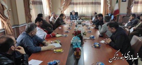 جلسه کارگروه سلامت و امنیت غذایی شهرستان بندرترکمن برگزار شد