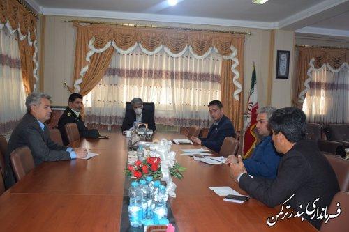 دومین جلسه اضطراری پیشگیری از کرونا ویروس در شهرستان بندرترکمن برگزار شد