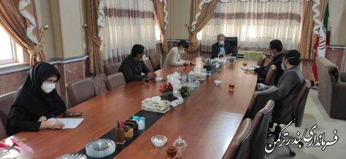 نشست فرماندار شهرستان بندر ترکمن با فعالان فضای مجازی