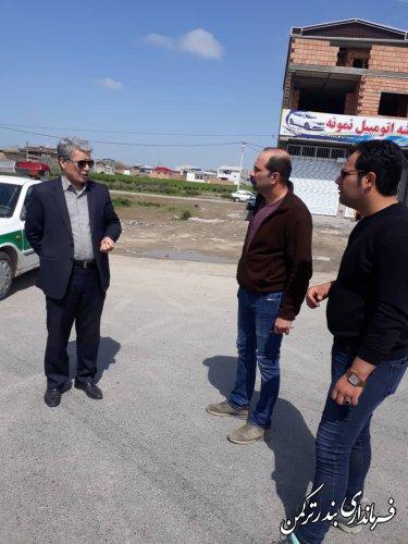 بازدید میدانی فرماندار شهرستان بندرترکمن از اجرای طرح کشوری کاهش زنجیره انتقال ویروس کرونا در ورودی های شهرستان