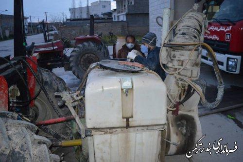 هفتمین مرحله عملیات گندزدایی و ضدعفونی شهر بندرترکمن انجام شد