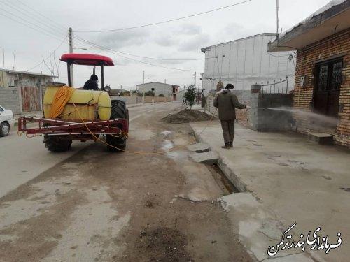 ضدعفونی و گندزدایی معابر عمومی روستاهای بخش سیجوال