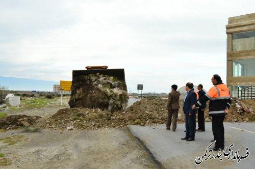 تمامی ورودی های منتهی به تفرجگاه های ساحلی در شهر بندرترکمن مسدود شد