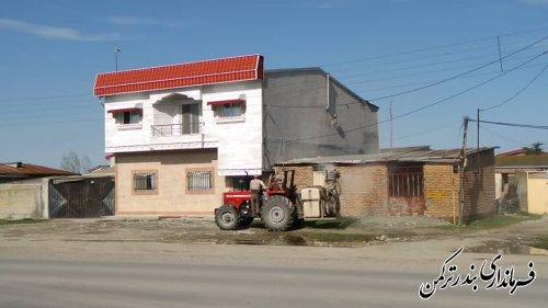 سم پاشی و ضد عفونی معابر روستای نیاز آباد