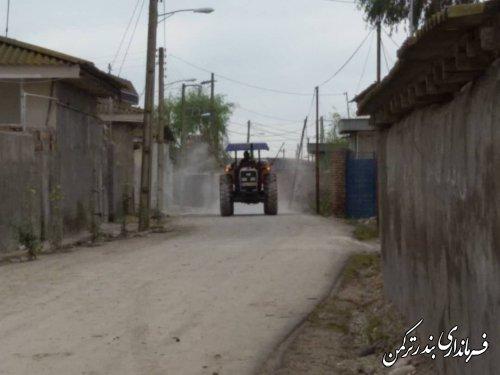 ضد عفونی معابر روستای خمبرآباد