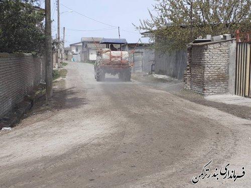 ضد عفونی و گندزدایی معابر روستای خمبرآباد