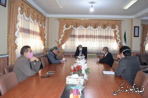 جلسه هماهنگی حفظ و حراست از نهال های غرص شده در شهرستان بندرترکمن برگزار شد