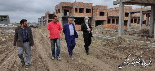 بازدید فرماندار از روند احداث شهرک مسکونی چوگان در بندرترکمن