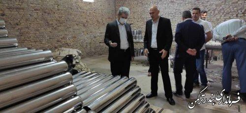 بازدید فرماندارشهرستان بندرترکمن از کارخانه تولید آرد اونق