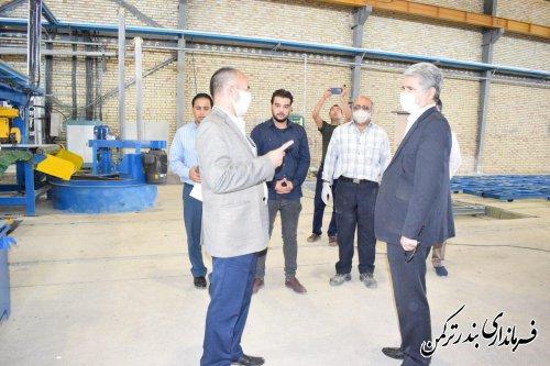بازدید فرماندار از واحدهای تولیدی در شهرک صنعتی پنج پیکر