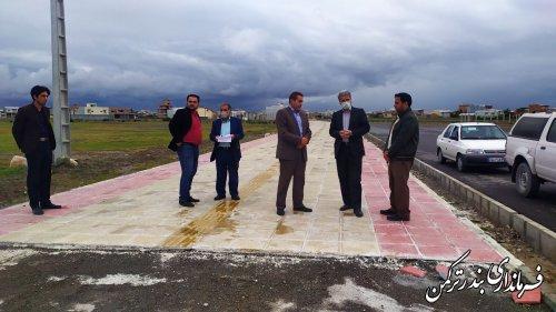بازدید فرماندار از پروژه های گردشگری شهرستان بندرترکمن