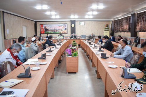 اولين جلسه شوراي هماهنگي مبارزه با مواد مخدر شهرستان بندرترکمن برگزار شد
