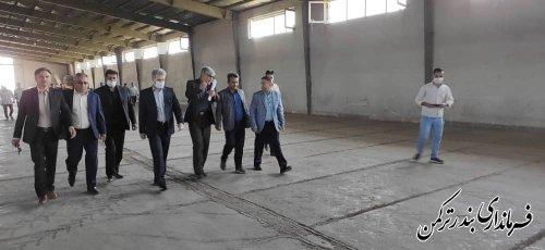 بازدید فرماندار شهرستان بندرترکمن از مراکز خرید کلزا و گندم در شهرستان