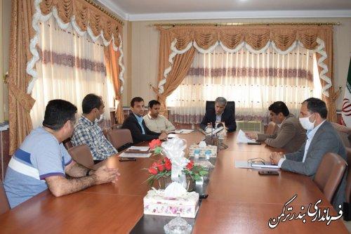جلسه بررسی و رفع مشکلات پروژه شهرک مسکونی در دست اقدام در شهرستان بندرترکمن