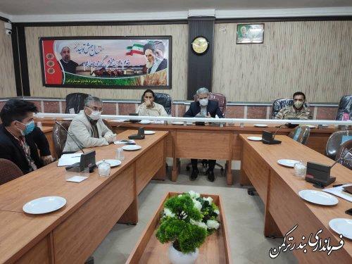 جلسه بررسی و رفع موانع پروژه جاده سلامت شهرستان بندر ترکمن برگزار شد