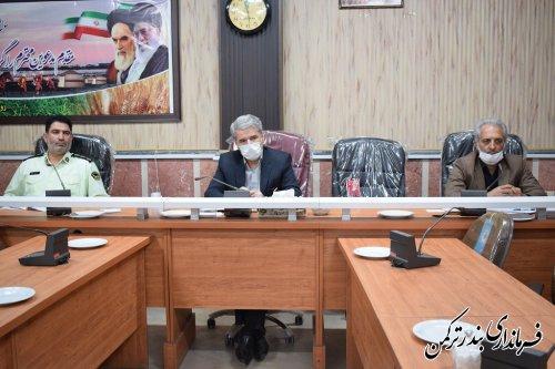 جلسه ستاد مبارزه با قاچاق کالا و ارز شهرستان بندرترکمن برگزار شد