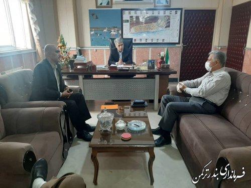 نشست پیمانکار باشگاه تختی با فرماندار شهرستان بندرترکمن