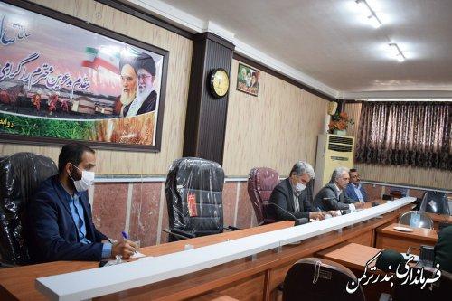 جلسه ستاد مبارزه با کرونا شهرستان ترکمن برگزار شد
