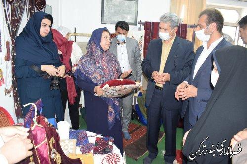 افتتاح مرکز خلاق صنایع دستی در شهرستان بندرترکمن