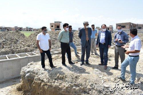 پیگیری اجرای پروژه های حوزه شهری بندرترکمن توسط فرماندار
