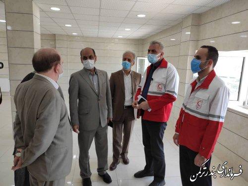 بازدید استاندار از مرکز جامع کنترل، پیشگیری و درمان سرطان شهرستان ترکمن