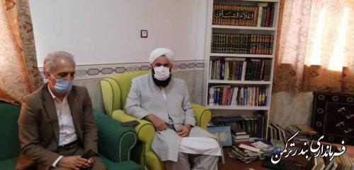 دیدار سرپرست فرمانداری شهرستان ترکمن با ائمه جمعه شهرستان