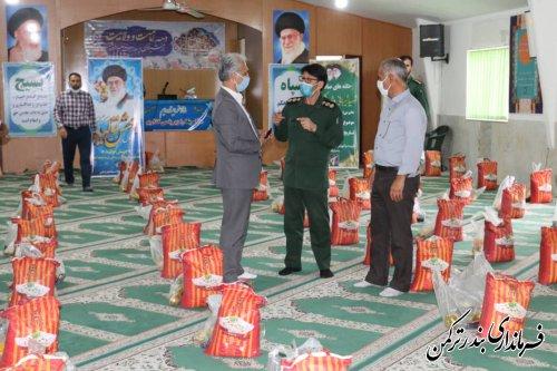 توزیع مرحله سوم کمک های مومنانه درشهرستان ترکمن