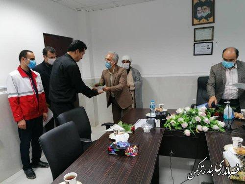 تجلیل سرپرست فرمانداری از پزشکان بیمارستان امام خمینی (ره) بندرترکمن