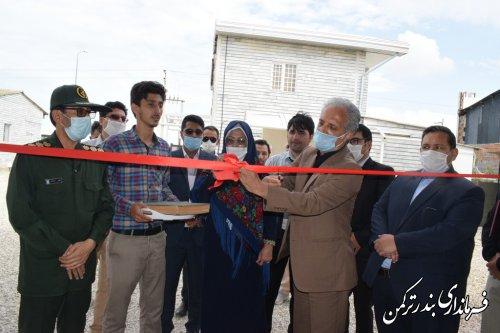 افتتاح دو واحد خدمات كيسه دوزي، چاپ و لمينيت كيسه در شهرستان ترکمن