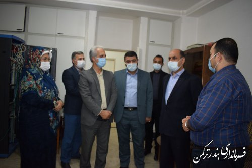 بازدید استاندار از ستاد انتخابات شهرستان ترکمن