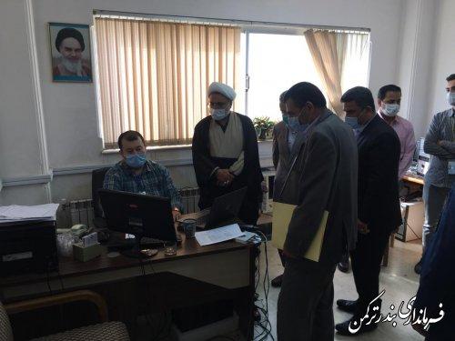بازدید معاون اجتماعی و پیشگیری از وقوع جرم دادگستری استان از ستاد انتخابات شهرستان ترکمن