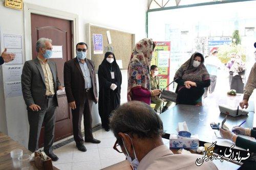 بازدید رییس کمیته امنیت ستاد انتخابات استان و سرپرست فرمانداری از شعب اخذ رای شهرستان ترکمن
