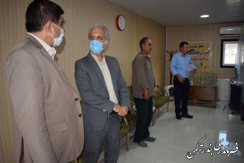بازدید سرزده سرپرست فرمانداری ترکمن از مدیریت توزیع نیروی برق شهرستان