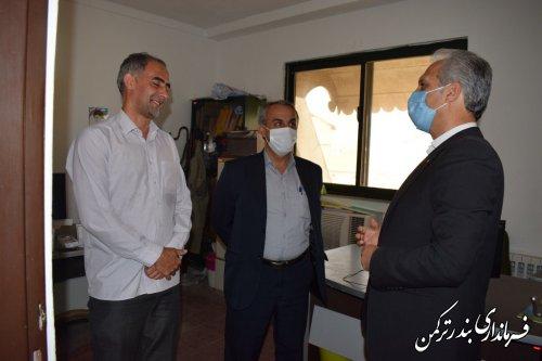 بازدید سرزده سرپرست فرمانداری ترکمن از اداره حفاظت محیط زیست شهرستان