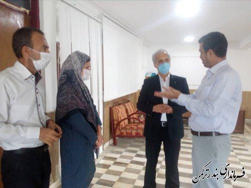 بازدید سرزده سرپرست فرمانداری ترکمن از بخشداری مرکزی شهرستان