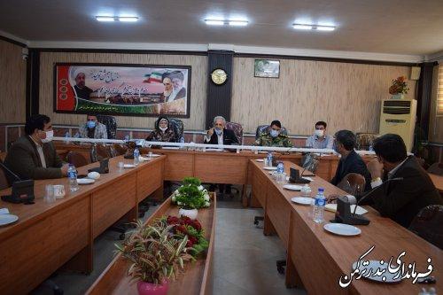 چهارمین جلسه شورای هماهنگی مدیریت بحران شهرستان ترکمن برگزار شد