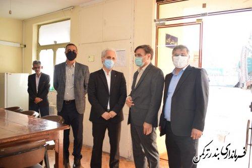 بازدید سرزده فرماندار ترکمن از اداره راهداری و حمل و نقل جاده ای شهرستان