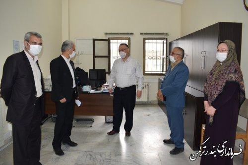 بازدید سرزده فرماندار ترکمن از اداره تامین اجتماعی شهرستان
