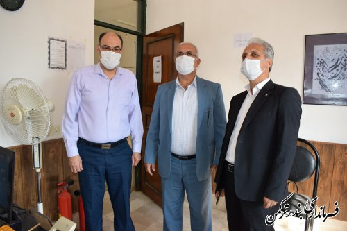 بازدید سرزده فرماندار ترکمن از اداره فرهنگ و ارشاد اسلامی شهرستان