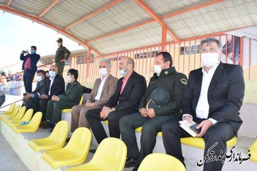 بازدید فرماندار ترکمن از مسابقات والیبال ساحلی تور دو ستاره قهرمانی کشور