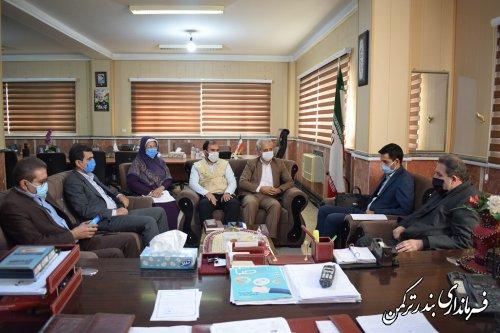 دیدار مدیرکل ستاد اجرایی فرمان امام (ره) استان با فرماندار ترکمن