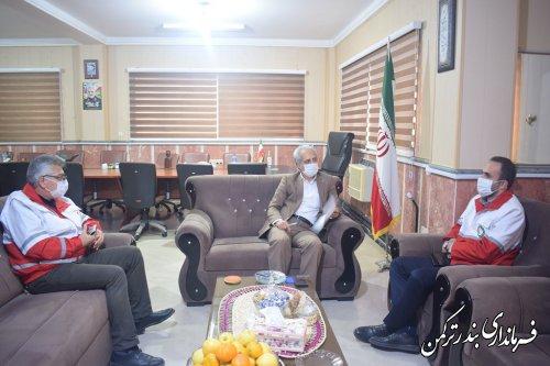 اعلام آمادگی جمعیت هلال احمر شهرستان ترکمن برای هماهنگی مانور آب گرفتگی