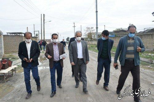 بازدید فرماندار شهرستان ترکمن از روستای قره قاشلی