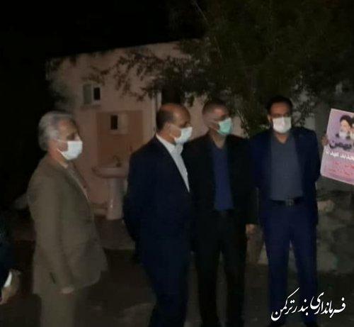 استاندار گلستان با دو خانواده تحت پوشش بهزیستی شهرستان ترکمن دیدار کرد