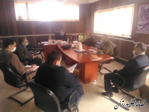 جلسه کمیته امنیتی، اجتماعی و انتظامی ستاد مقابله با کرونا شهرستان ترکمن برگزار شد
